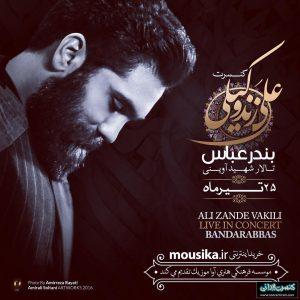 کنسرت بندرعباس تالار آوینی علی زندوکیلی